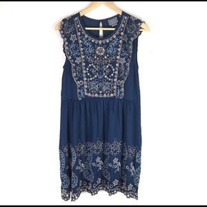 Anthropologie Embroidered Dress XS